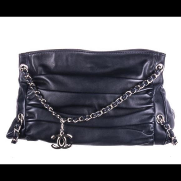 35b06d725803 CHANEL Handbags - Chanel navy blue silver hardware handbag